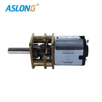 Motor de caja de cambios 6V n10 dc Mini Motor motor eléctrico DC para bicicleta de 1280R a 55rpm motor dc 6v con reductor de metal 5 unids/bolsa
