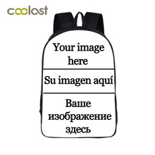 Customize the Image Backpack for Teenagers Girls Boys School Bags