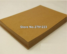 20pcs/lot A4 Wholesale! High quality A4 Thick Brown Kraft Paper Paperboard Cardboard Card Blank