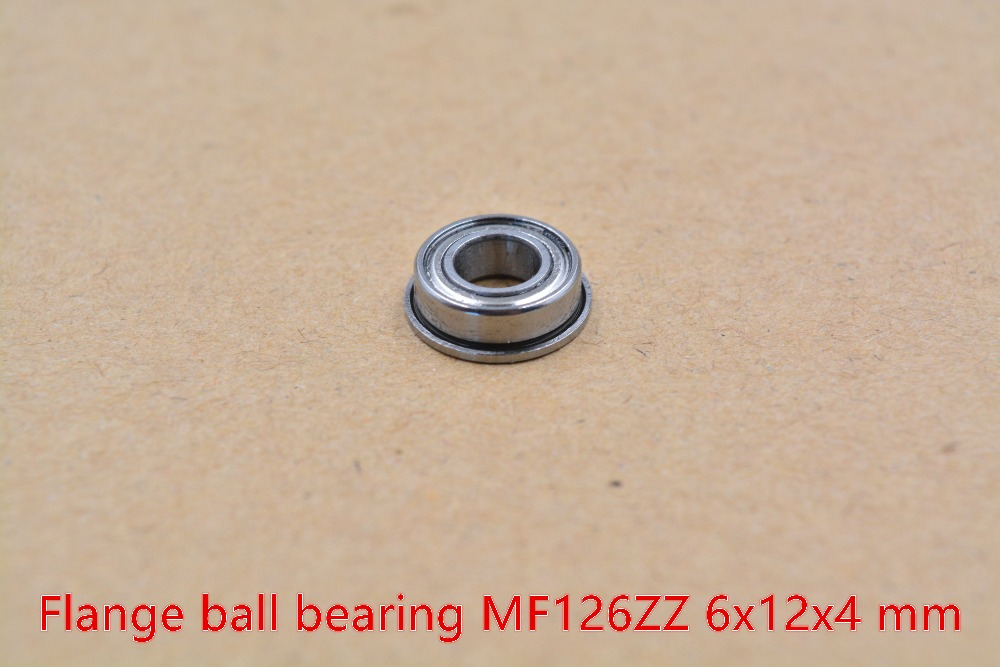 6mm Bearing MF126ZZ 6mmx12mmx4mm MF126ZZ Miniature Flange Deep Groove Ball Radial Ball Bearing 1pcs