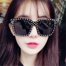 ASUOP new rivet fashion ladies square sunglasses classic luxury brand retro design mens glasses UV400 driving