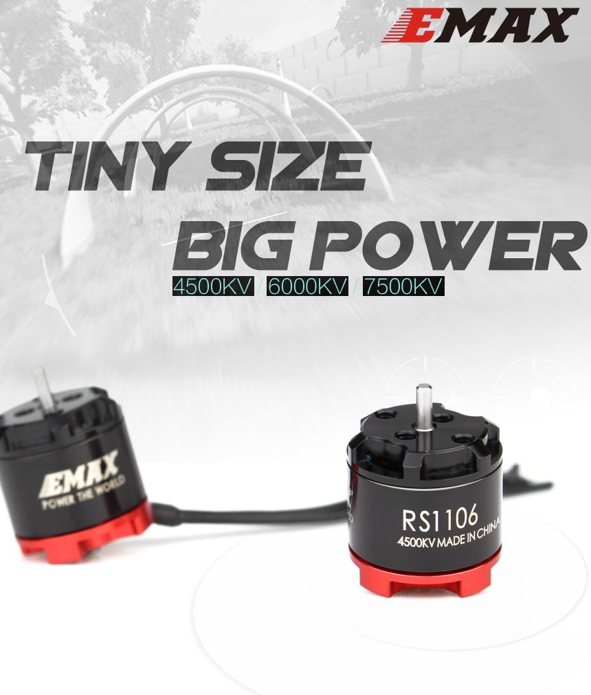 EMAX RS1106 4500KV 6000KV 7500KV Micro Brushless Motor CW Thread for RC Multirot