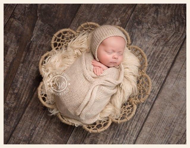 Jute Newborn Photography Basket Props Baby Flokati Photo Shoot