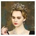 Barroco crown nupcial tiara borboleta retro artesanal pérola Jóias bridal acessórios para o cabelo tiara de ouro do vintage