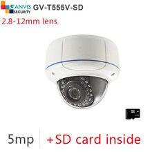 #SD card# reminiscence 5mp ip digicam onvif p2p digital cctv cameras 3mp 2mp 1080P full hd surveillance system cam GANVIS GV-T555V-SD b