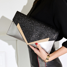 Fashion Envelope Clutch Bag Women Leather Birthday Party Evening Clutch Bags For Women Ladies Luxury Shoulder Clutch Bag Purse studded trim envelope clutch