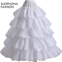 New Arrival White Black Ball Gown Petticoat Halloween Underskirt Jupon Mariage Plus Size Wedding Accessories Hoepelrok