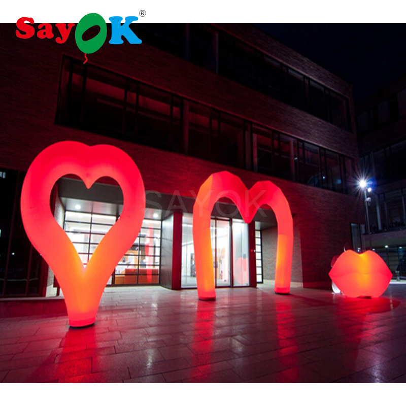 2mH Inflatable Red Heart 4x3m Inflatable Red Arch 1.5mH Inflatable Red Lip for Valentines Day Wedding Ground Event Decorations2mH Inflatable Red Heart 4x3m Inflatable Red Arch 1.5mH Inflatable Red Lip for Valentines Day Wedding Ground Event Decorations