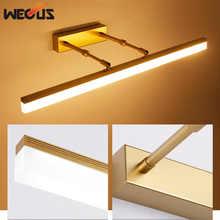 New golden/chrome led mirror front lamp adjustable head bathroom wall sconce painting lighting bedroom restroom makeup light