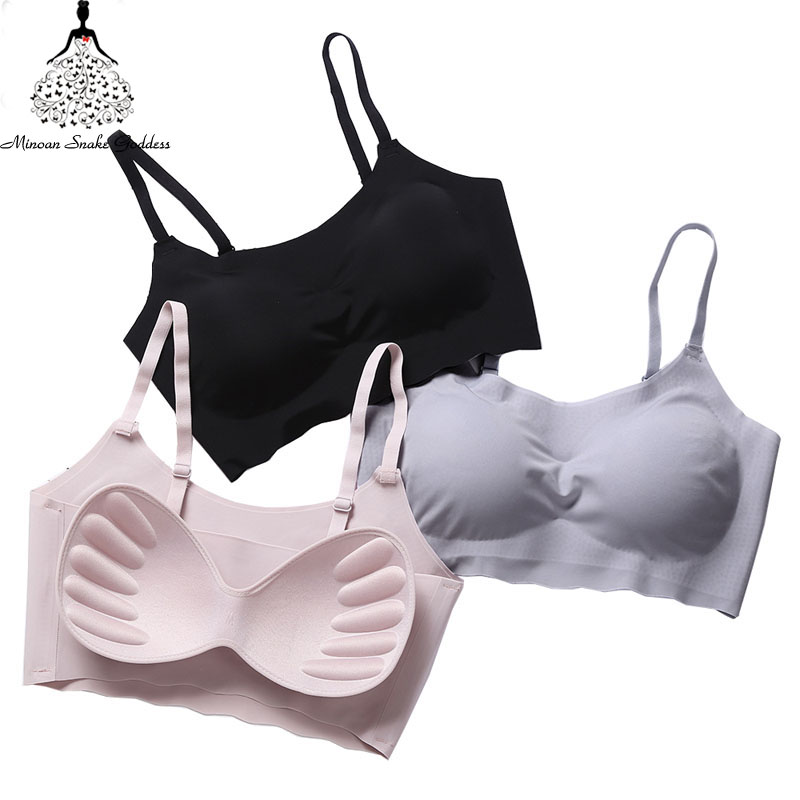 Sexy Bralette Seamless Bras For Woman Lingerie Brassiere Bra Underwear Women Ultra thin Padded Woman Bra Comfortable Breathable 3