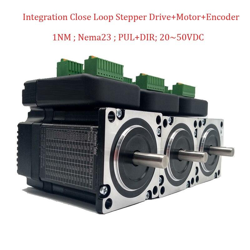 3Pcs/Lot Nema23 Integrated Closed Loop Stepper Drive+ Motor+ Encoder 1.2Nm DC36V for Electronic Processing Equipment nema23 2nm 283oz in integrated closed loop stepper motor with driver 36vdc jmc ihss57 36 20