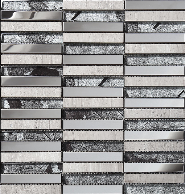 crystal metal glass mosaic tiles mirror building materials silver design wall tile decor meshsa0539