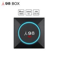 I98 originais Android 6.0 set-top Box TV 4 k 3D jogo de vídeo multi-media Player Suporte BT4.0 2.4 GHz WiFi H.265