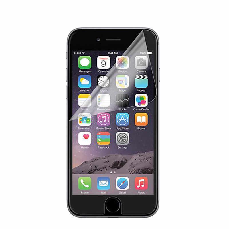 Película protectora de pantalla suave de plástico mate 5 uds para iPhone 7 8 Plus X 5 5S SE 6 6S 11 Pro XR XS Max