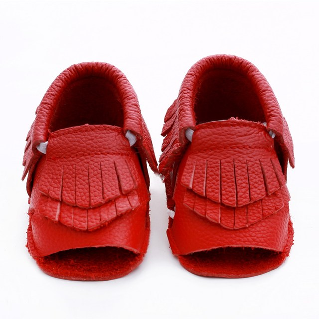 Top quality Genuine Leather Baby Moccasins tassel Baby Shoes Bebe newborn boys girls shoes soft bottom First Walkers