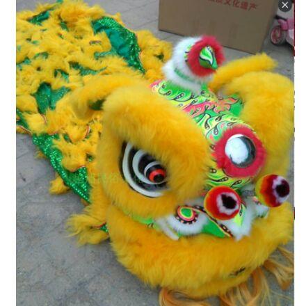 kinų liūto šokių kostiumas dviem vyrams kinų liūto šokių drabužiai kinų liūto šokėjo kostiumas festivalio šokio kostiumas