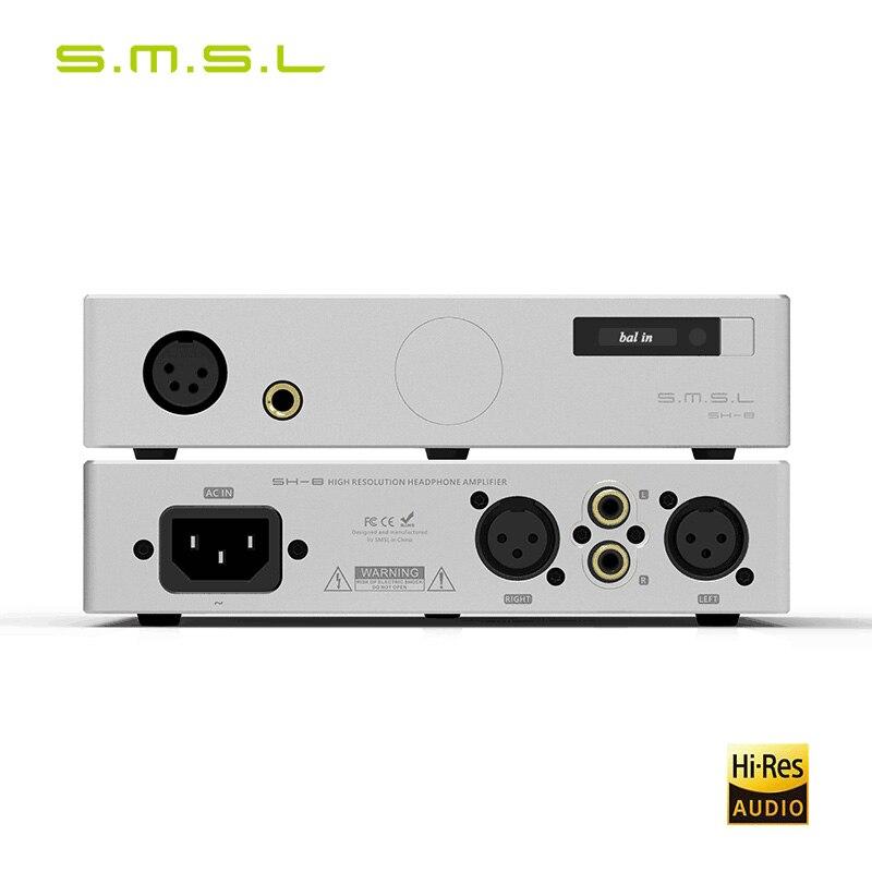 SMSL SH-8 6.35mm/Balanced High Performance RCA/XLR Input SH8 HiFi Headphone Amplifier
