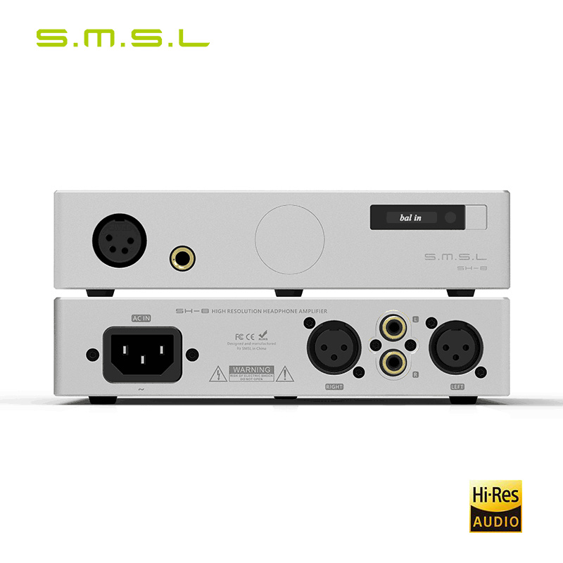 SMSL SH 8 6.35mm/Balanced High Performance RCA/XLR input SH8 HiFi Headphone Amplifier