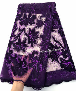 very soft shiny velvet embroidery African french lace fabric 5 yards Nigerian clothes sewing fabric with lots of small sequins - DISCOUNT ITEM  15% OFF All Category