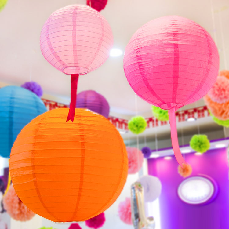 Paper Lanterns Wedding Decoration Ideas: Frozen Party 10pcs 25cm(10inches) Paper Lantern Casamento