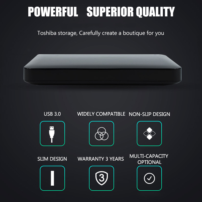Image 3 - Toshiba Hard Disk Portable 1TB 2TB Free shipping Laptops External  Hard Drive 1 TB Disque dur hd Externo USB3.0 HDD 2.5 HarddiskExternal  Solid State Drives