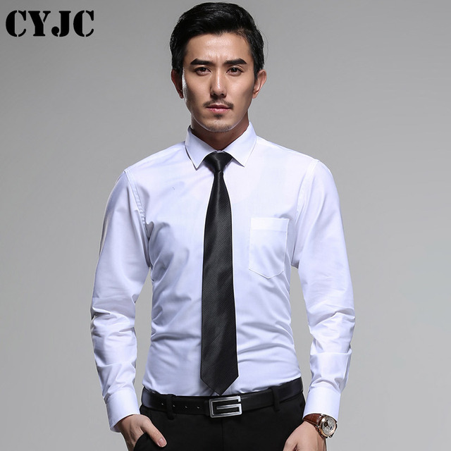 Korean spring fashion male free shipping white men's man suit slim long sleeved formal shirt Business DP occupation overshirt