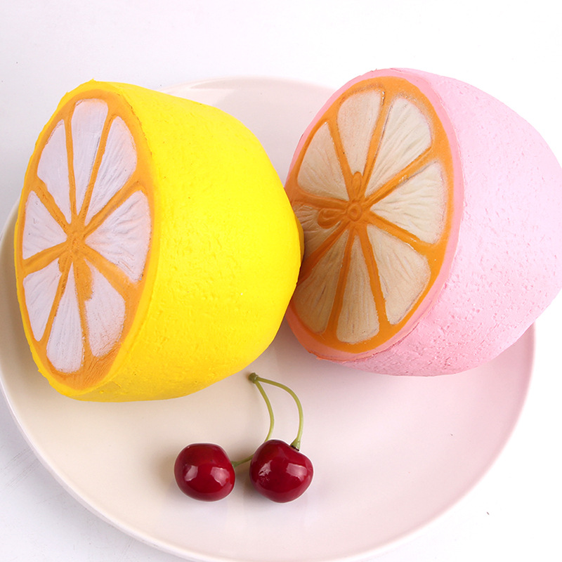 Squishy Cute Soft Tricks Toy Lemon Fruit Squeeze Sticky Eliminate Stress Squishi Fun Squ ...
