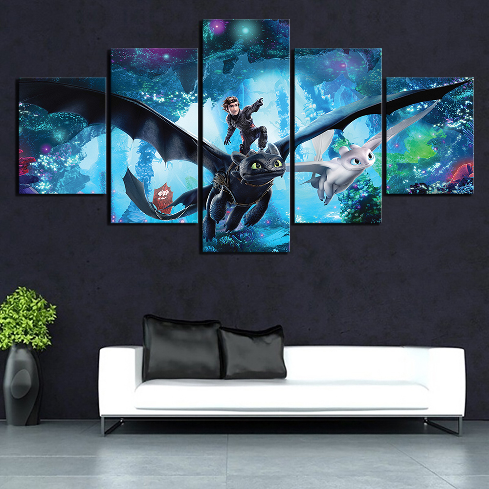 How to Train Your Dragon 3 Movie Silk Poster Wall Art Home Decor Print