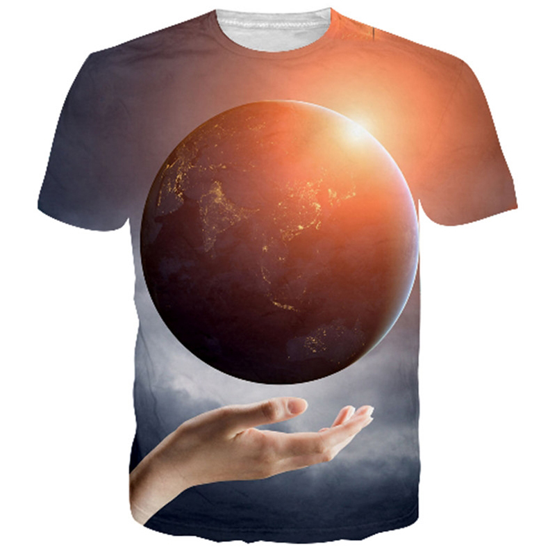 Palm Earth 3D T-shirts Men Women Short Sleeve O Neck Summer Tops Casual Tee Shirt Homme All Over Printed Graphic T Shirt Tshirt