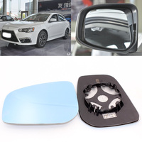 For Mitsubishi Lancer EX 2009 2016 Side View Door Mirror Blue Glass With Base Heated 1 Pair