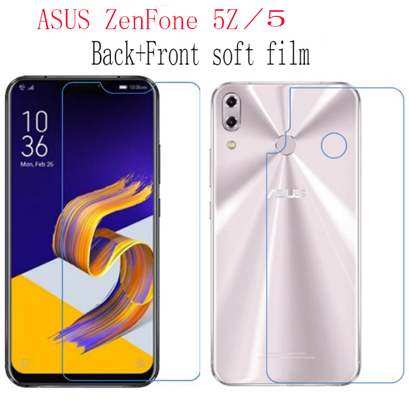 2pcs Back+Front HD Clear Nano Premium Explosion-proof Soft Film For ASUS ZenFone 5 ZE620KL  5Z ZS620KL (NOT Tempered Glass)