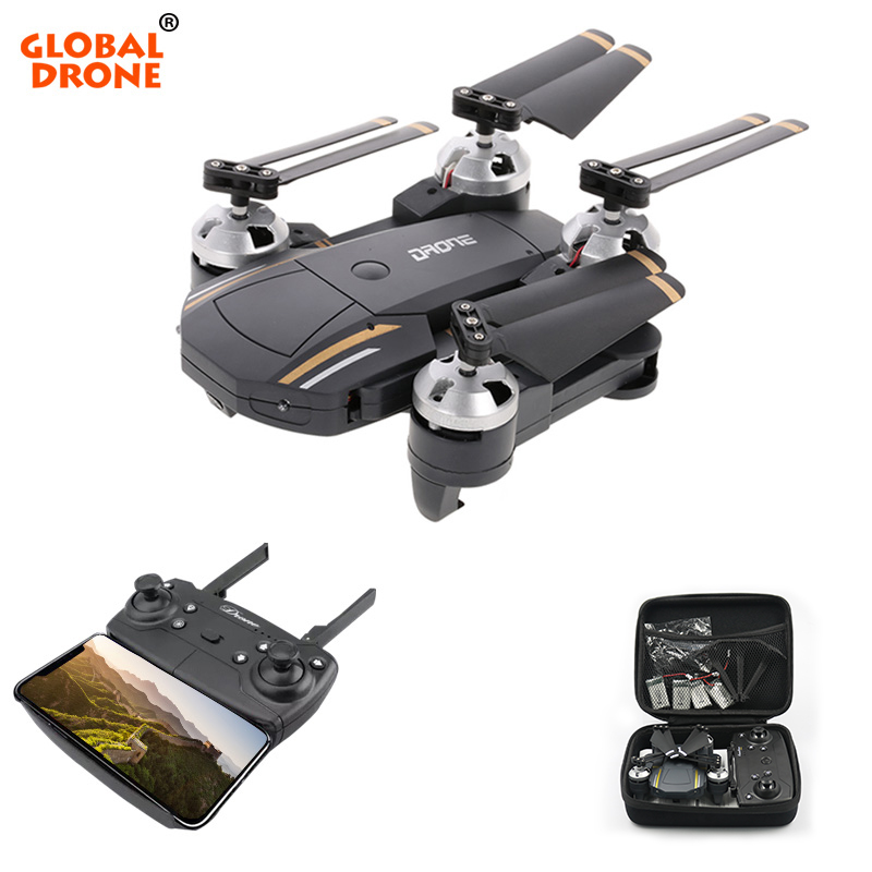 Global Drone GW58 Folding Drones with Camera HD 2.0MP 720P Altitude Hold Dron FPV Selfie RC Quadrocopter VS XS809HW SG700 global drone gw018 wifi fpv selfie drones with camera hd 2 0mp wide angle altitude hold quadrocopter rc dron mini drone vs jy018