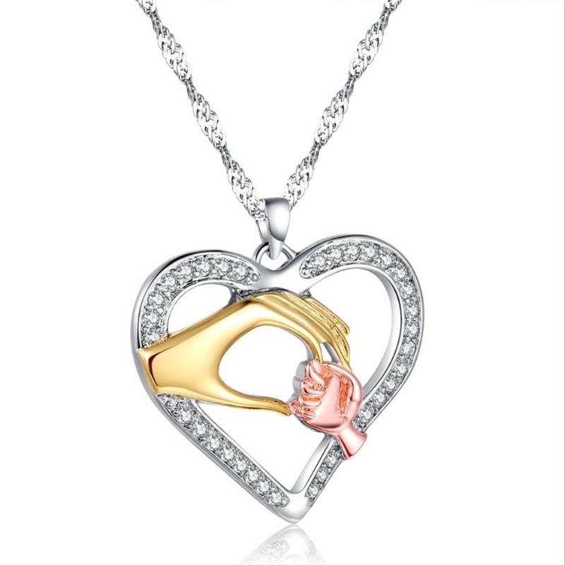4f45abc249c1 LUKENI Corazón de moda las mujeres colgantes collar de la madre ...