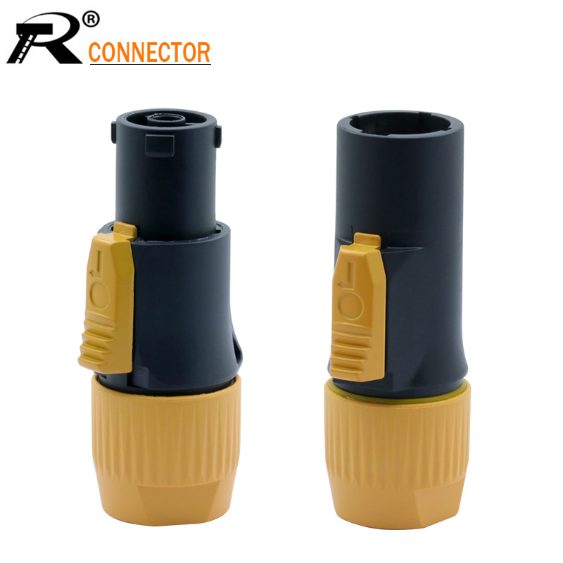 1PC OUT/IN 20A Aviation Waterproof LED Large Screen Power Plug High-power Flame-retardant Industrial Power Connector