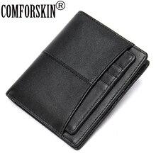 COMFORSKIN Genuine Leather Men Wallet With Detachable Card Slots Short Vintage Man Purse New Arrival Multi-Card Bit Male Wallet цены