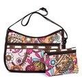 Novas Mulheres Chegada Saco Lesport Messenger Bags Bolsas Casuais Ombro Sacos de Nylon À Prova D' Água Com Saco de Embreagem Senhoras Bolsa Flor
