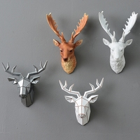 European simulation animal decoration deer head stereo creative living room mural resin crafts Wall Hanging