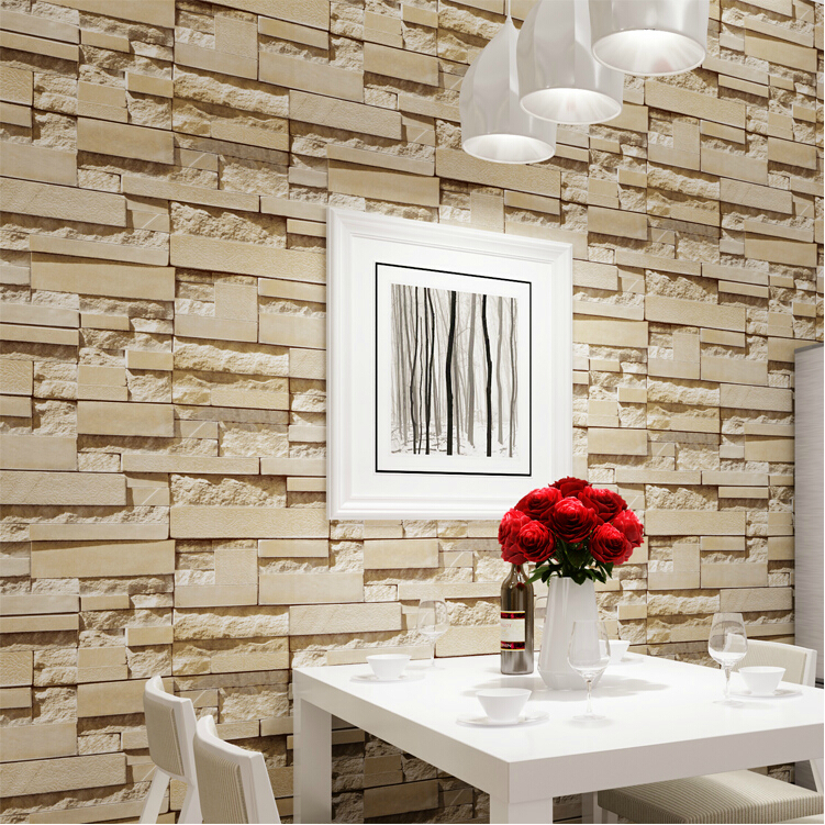 New Luxury Stone Brick wall 10M Vinyl Wallpaper Roll papel de parede 3D Living Room Background Wall Decor Art Wall Paper купить