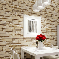 New Luxury Stone Brick Wall 10M Vinyl Wallpaper Roll Papel De Parede 3D Living Room Background