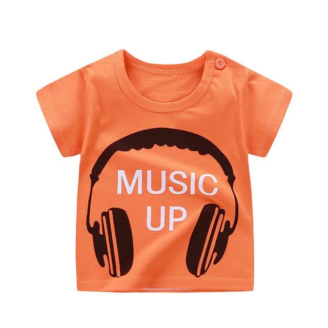 b375ef62150 Hipster Cartoon Print Summer Baby Cotton Girl T-Shirt Clothing Boy T-Shirt  Children Cartoon Print T-Shirt Children Top T-Shirt 6