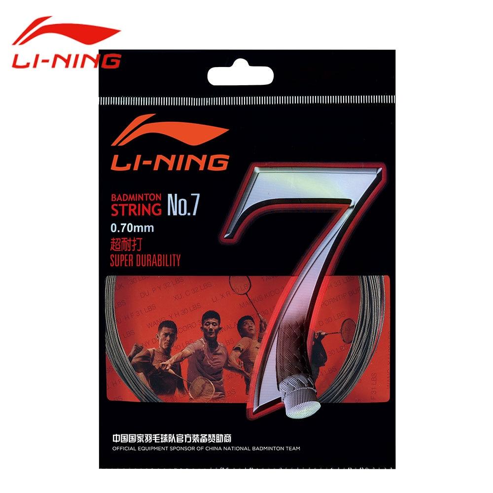Li-Ning Super Durability 0.7mm Badminton String No.7 High Control Tension String LINING professional Badminton Line AXJJ014