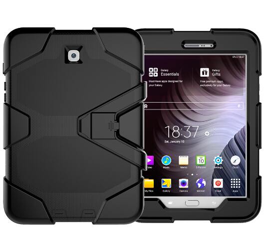 New Case for Samsung Galaxy Tab S2 8.0 Heavy Duty Impact Hybrid Stand PC Rugged Cover for Samsung Tab S2 SM-T715 SM-T710 Case tire style tough rugged dual layer hybrid hard kickstand duty armor case for samsung galaxy tab a 10 1 2016 t580 tablet cover