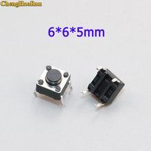 ChengHaoRan 50pcs 6x6x5mm Light touch switch DIP4 ON/OFF 6*6*5 Touch button micro 6*6*5mm keys DIP 4pin