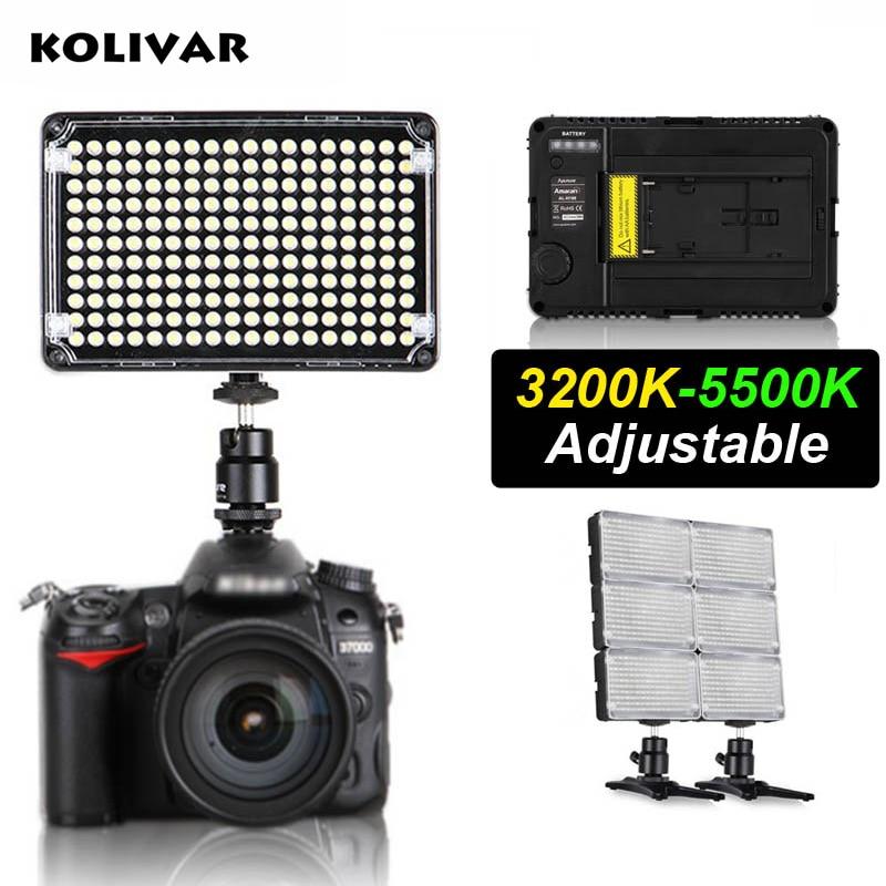 KOLIVAR Aputure Amaran H198C Led Light CRI 95+ On Camera Bicolor Temperature Video Photo Lighting for DSLR Camera DV Camcorder стоимость