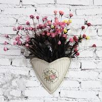 zakka European-style home iron metal flower barrel flower barrel flower barrels a variety of small metal tin flower bucket Clear