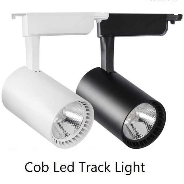 1 قطعة Cob Led أضواء المسارات 12W 20W 30W الألومنيوم السقف السكك الحديدية أضواء المسارات جي بقعة السكك الحديدية الأضواء استبدال مصابيح هالوجين 220V