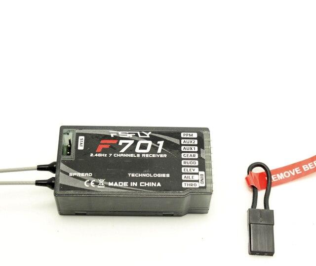 Receptor RC F701 2,4G 7Ch (reemplazar AR7000) soporte DX6I DX7 DX9 para JR Spektrum DSMX DSM2 sistema de Control remoto