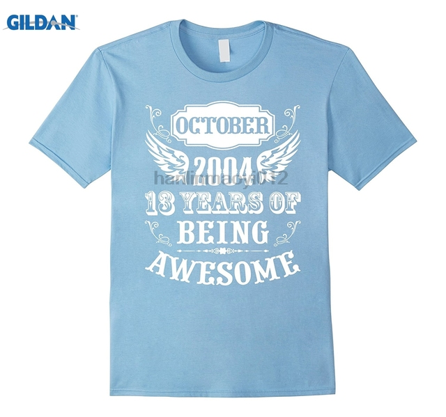 GILDAN 13th Birthday Shirt Gift Age Of 13 Year Old Boy T Mens