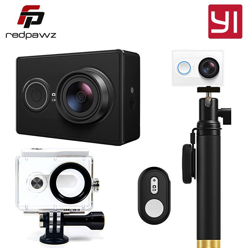 International Edition Xiaoyi YI Action Sports Camera Ambarella A7LS 155 Degree 1080P WiFi Action Cam 3D Noise Reduction yi 4k action camera black 2 19lcd screen 155 degree eis wifi international edition ambarella a9se75 12mp cmos 5ghz wi fi