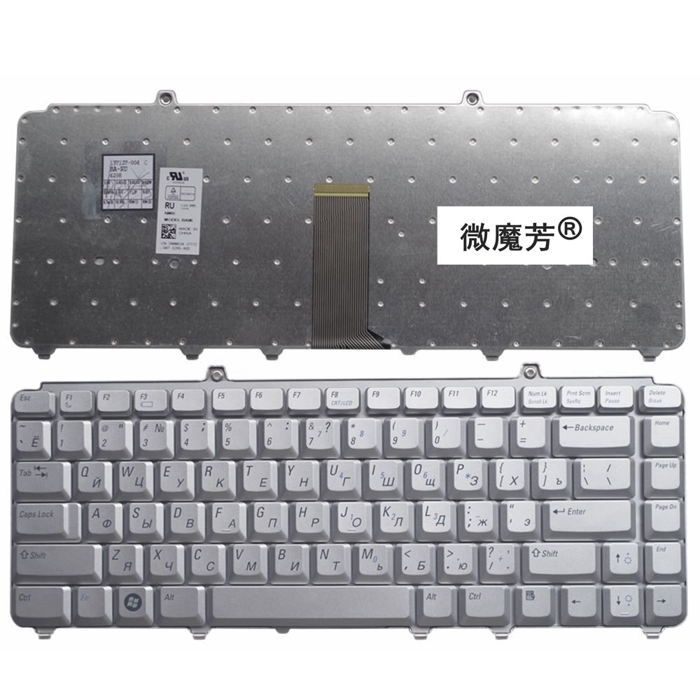 RU Silver New FOR DELL 1400 PP22L 1318 1545 PP29L 1520 1525 PP26L 1521 1526 500 PP14L PP41L M1530 Laptop Keyboard Russian